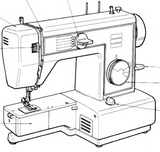 JONES or BROTHER Model VX520 Sewing Machine  Instruction Manual (Download)
