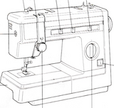 JONES or BROTHER Model VX 857, VX880 & VX883 Sewing Machine  Instruction Manual (Download)