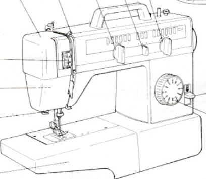 JONES BROTHER Model VX591 'Buttonmatic' Sewing Machine