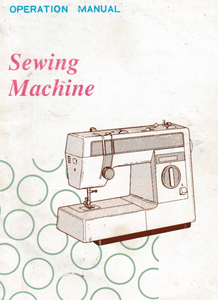 BROTHER VX1060, VX1080, VX1090, VX2010 & VX960 Sewing Machine Instruction Manual (Printed)