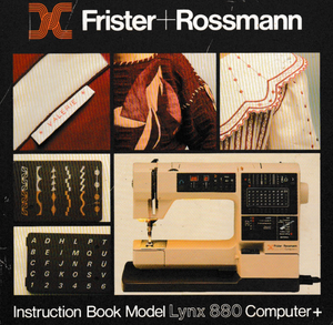 Frister + Rossmann Lynx 880 Instruction Manual (Printed)
