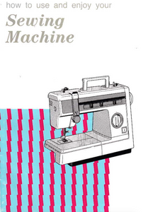 JONES BROTHER Model VX810, VX807 & VX800 Sewing Machine  Instruction Manual (Download)