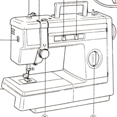 JONES BROTHER Model VX890 Sewing Machine Instruction