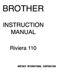 BROTHER  Riviera 110 Instruction Manual (Download)