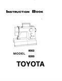 TOYOTA 2008 & 2800 Instruction Manual (Printed)