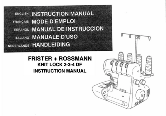FRISTER + ROSSMANN Knit Lock 2-3-4 Instruction Manual (Download)