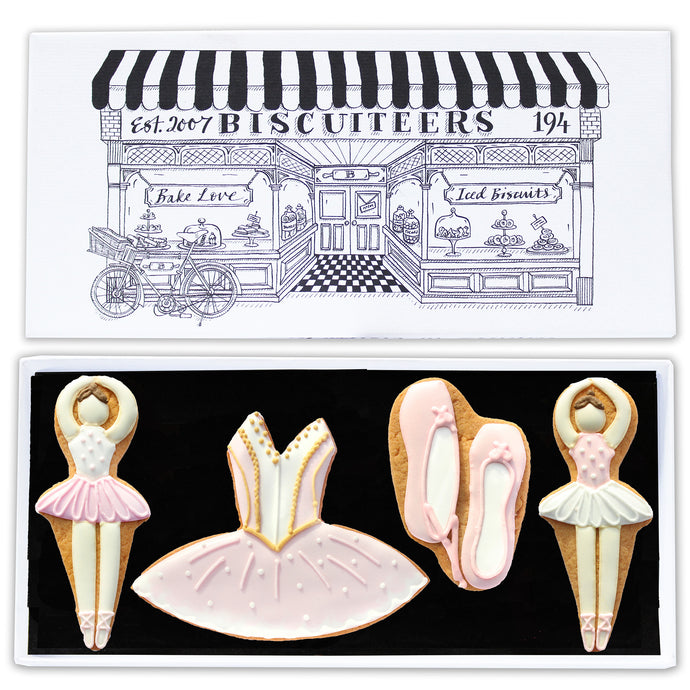 Ballerina biscuit letterbox box from the Biscuiteers