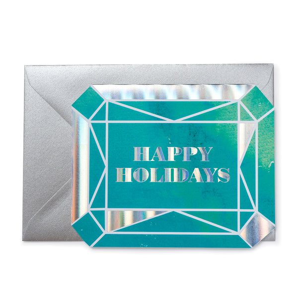'Happy Holidays'  Gem Christmas Card
