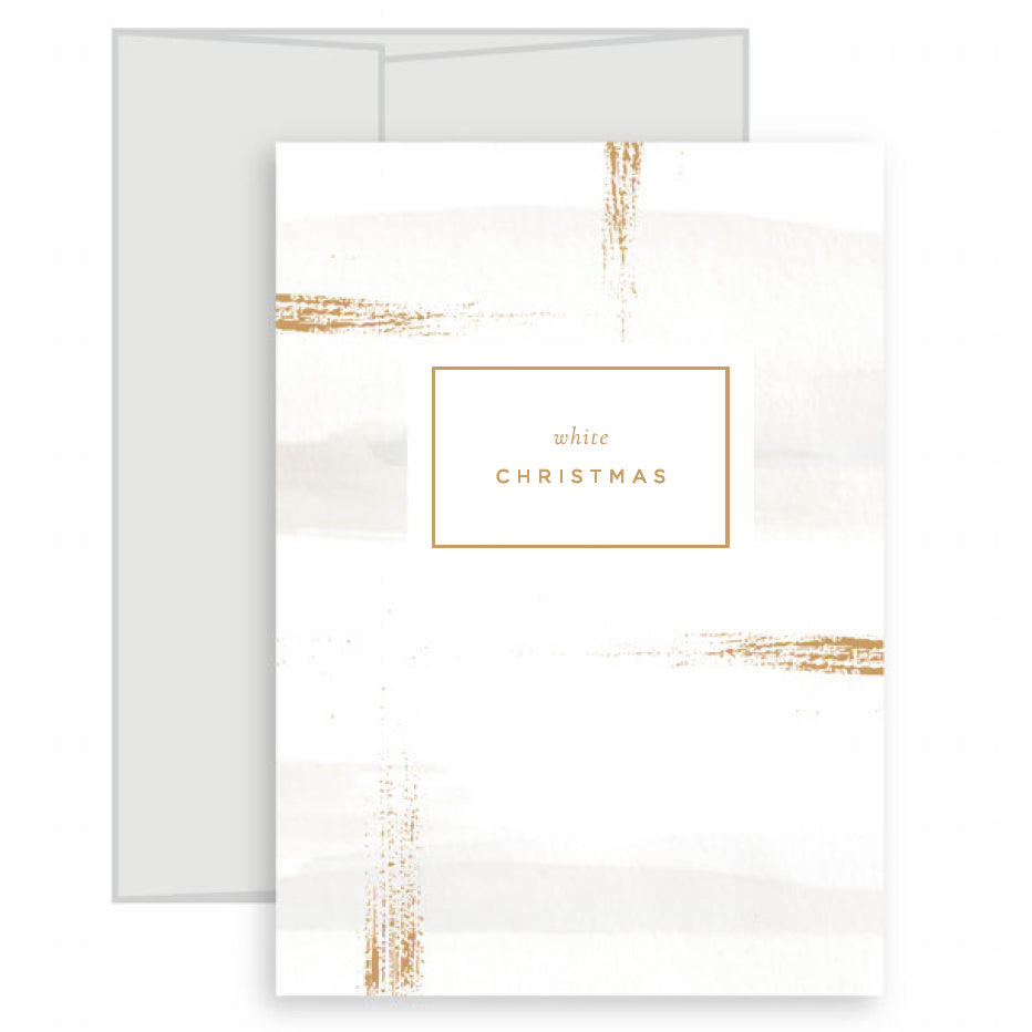 'White Christmas' artisan christmas card