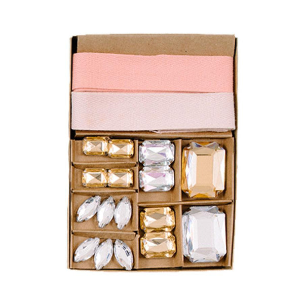 Blush Gem Gift Wrap Kit