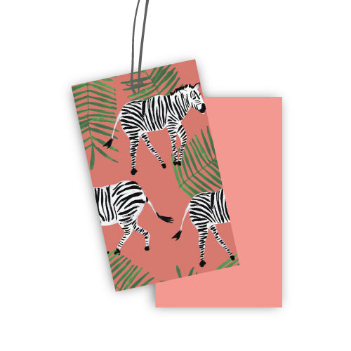 Zebra Set of Five Tags