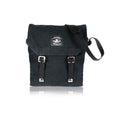 Haversack black cotton canvas Bag