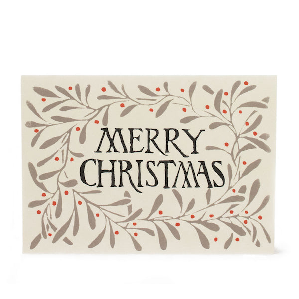 Merry Christmas set of 10 Christmas cards by Cambridge Imprint
