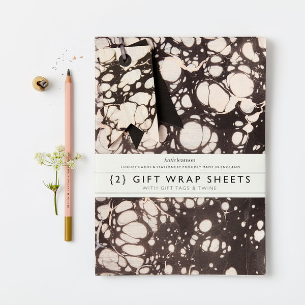 Carbon Marble Gift Wrap sets
