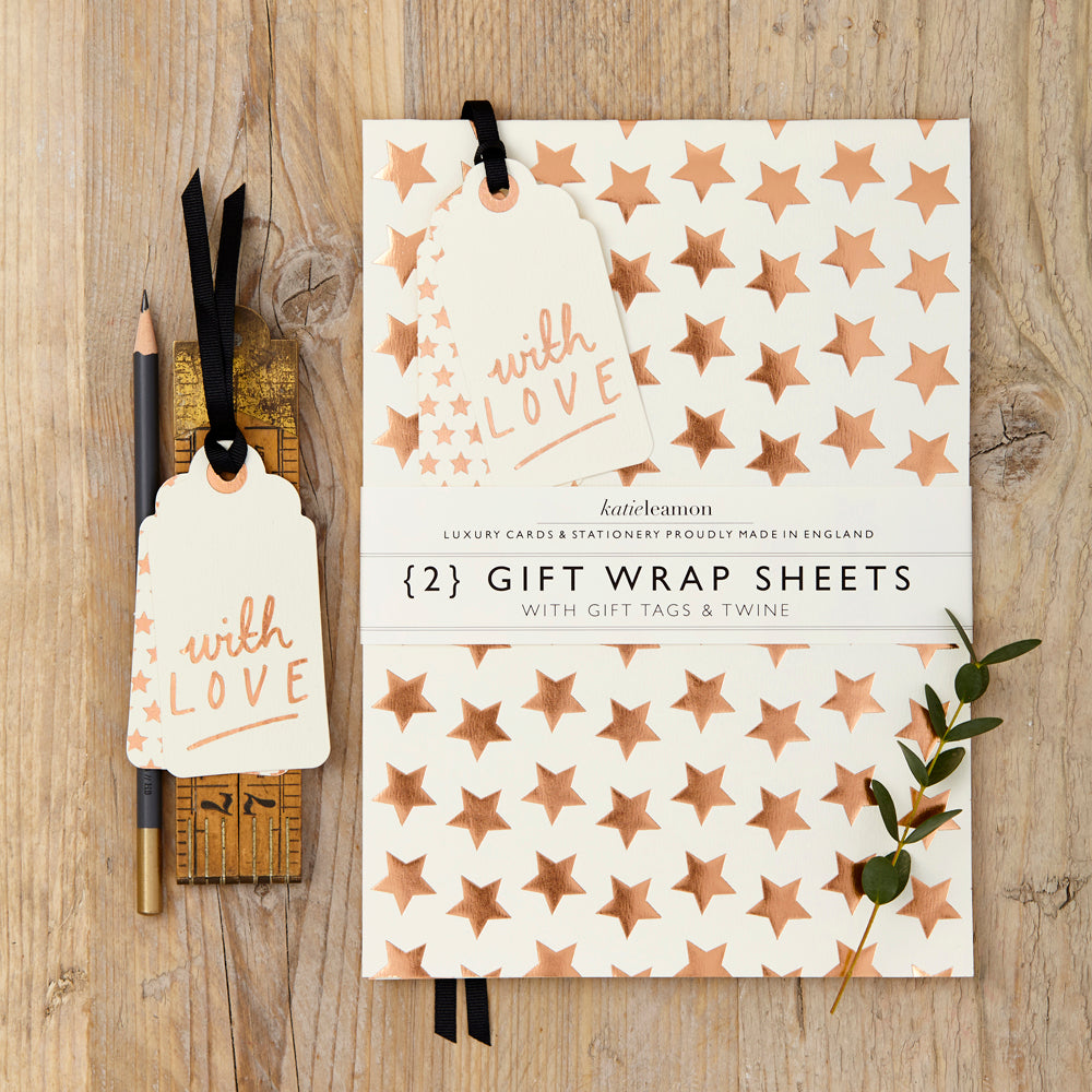 Copper Star Gift Wrap sets
