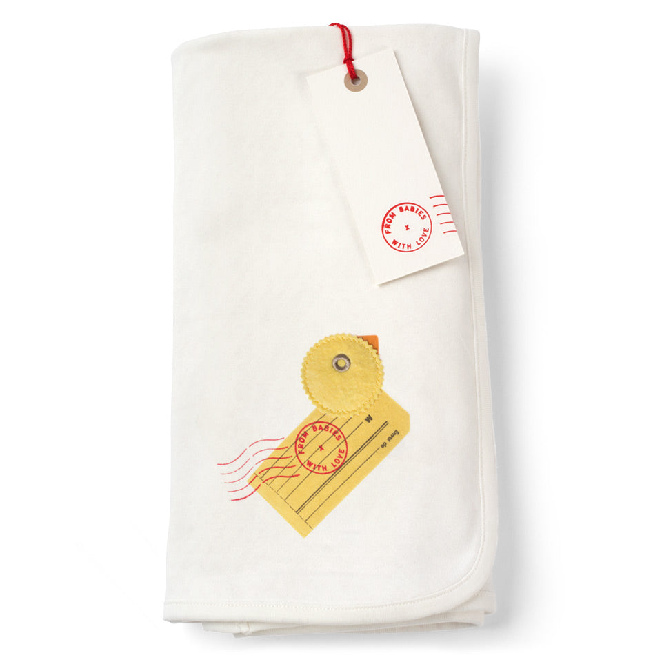 Duck reversable swaddling blanket