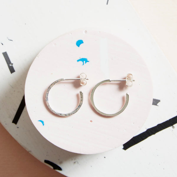 Silver Hidden orbit earings