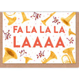 FaLaLa Christmas Cards - Set of 6 cards