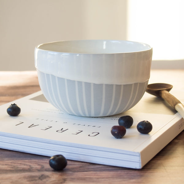 Every day bowl - Pocelain Dove grey