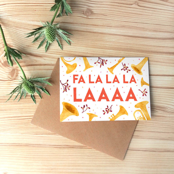 FaLaLa Christmas Card Set of 6