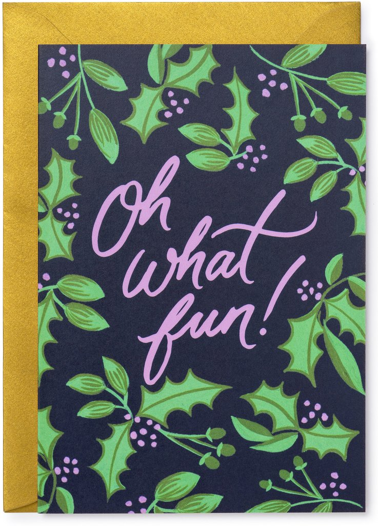 'Oh What Fun' Berries Christmas Card