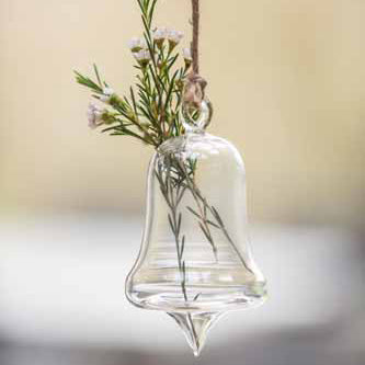 Glass Hanging Bell