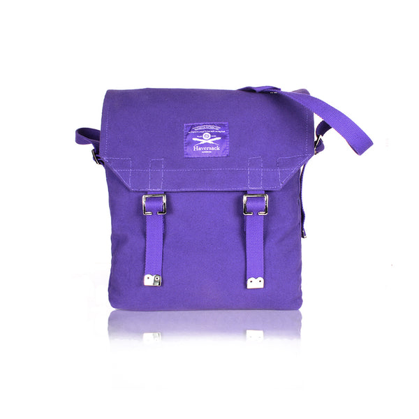 Haversack purple cotton canvas Bag