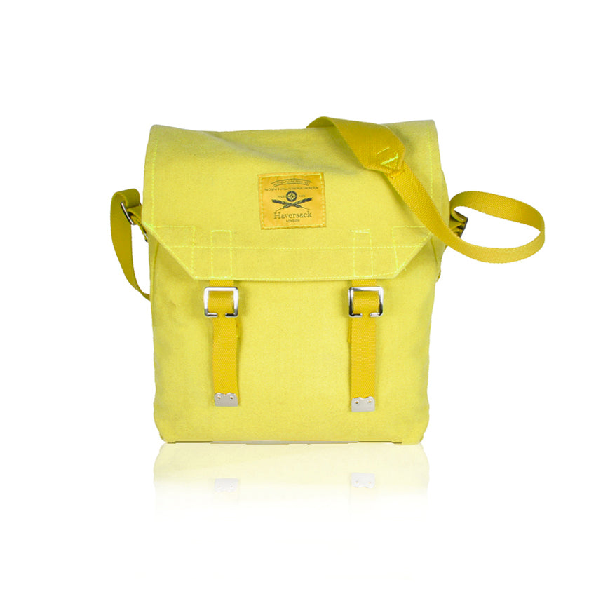 Haversack yellow cotton canvas Bag