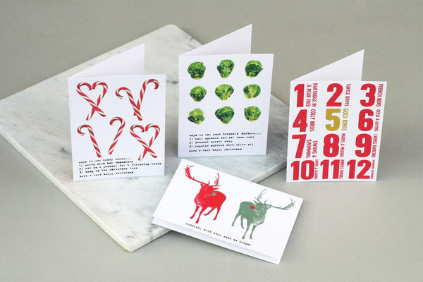 Canes Sprouts reindeer cards