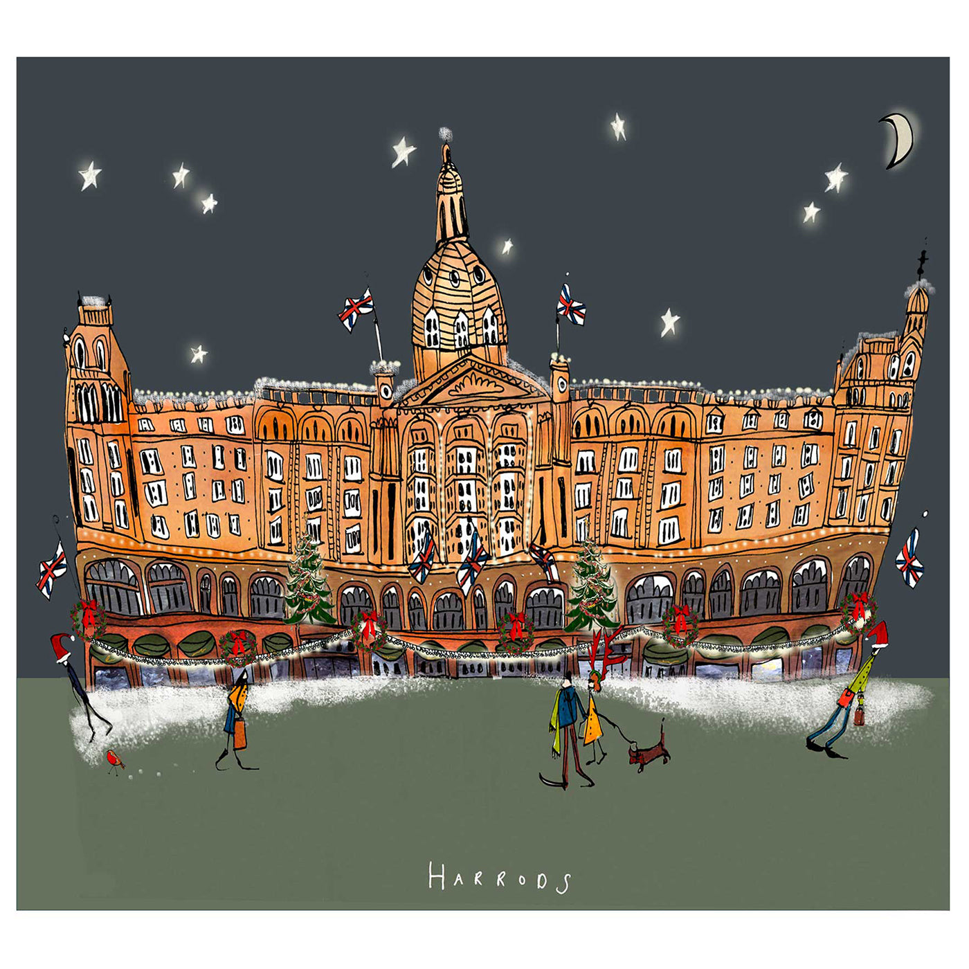 Harrods Christmas Card made in Britain