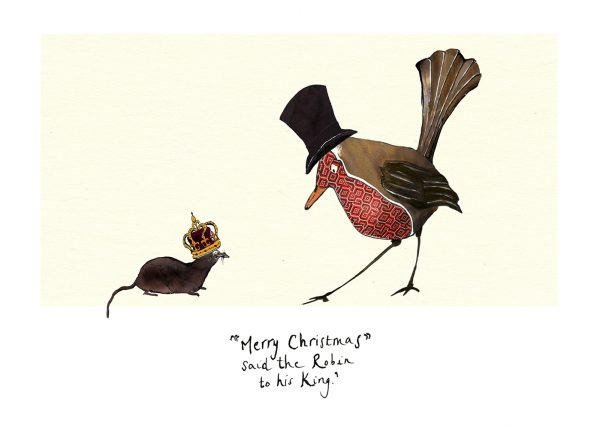 Merry Christmas Robin & Lemming Christmas Card