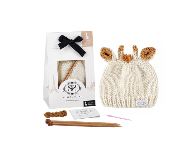 Knitting Kit - Sophie's Hat Ivory White