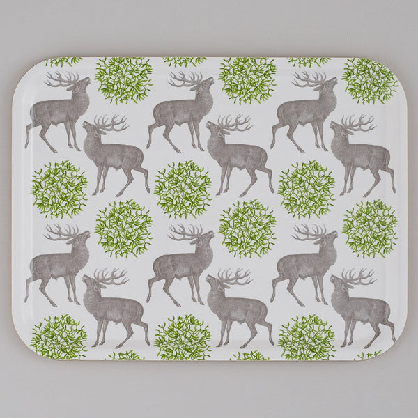 Large Stag & Mistletoe Tray