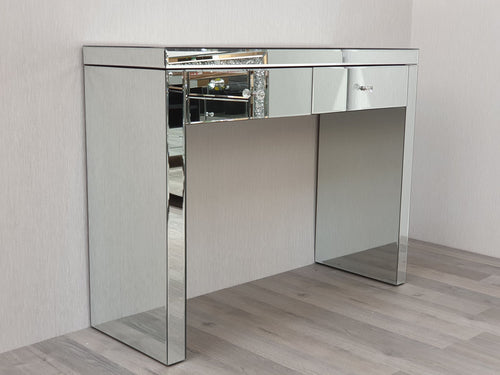 Venetian Mirrored Two Drawer Console Dressing Table