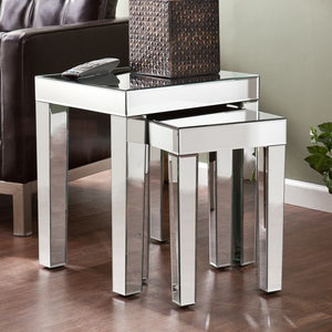 Venetian Mirrored Glass Nest Tables