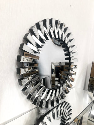 Luxury 90cm x 90cm Zip Cutout Round Wall Mirror