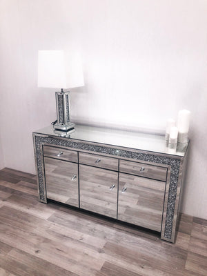 Mirrored Crushed Diamond Sideboard