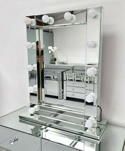 Mirrored Bevelled Vertical Hollywood Mirror