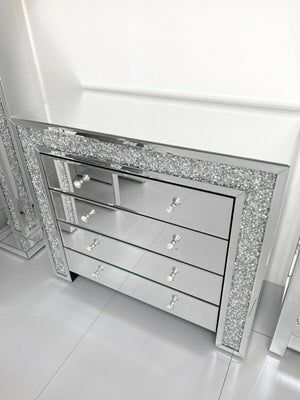 Crushed Diamond 4 Drawer Chest Of Drawers