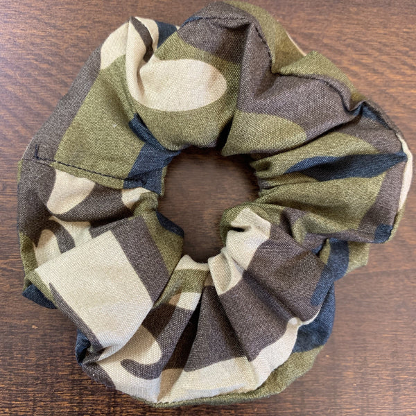 Over Camouflaged Scrunchy