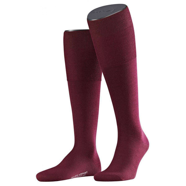 Falke Burgundy Barolo Airport Knee High Socks