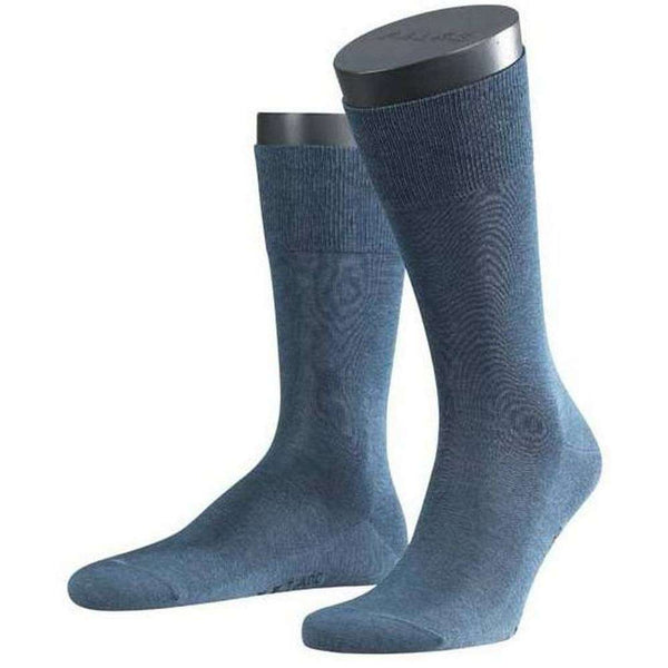 Falke Blue Melange Tiago Midcalf Socks