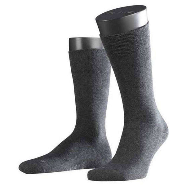 Falke Grey Melange Sensitive London Midcalf Socks
