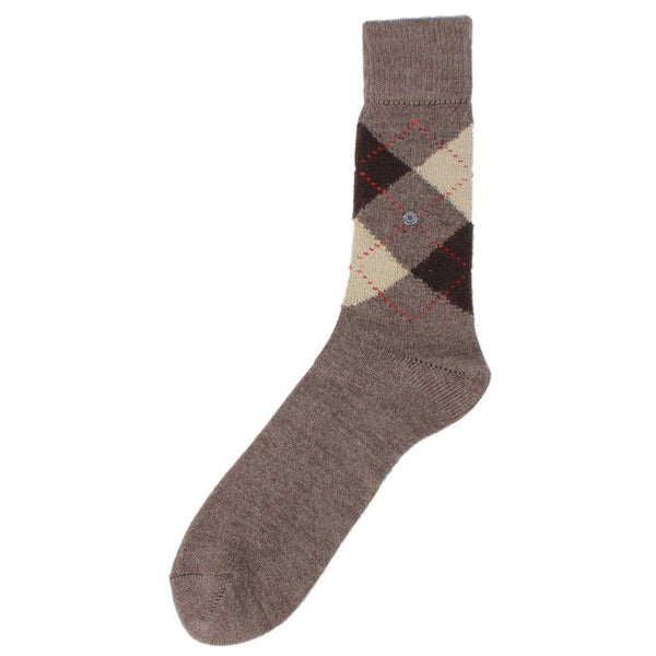 Burlington Brown Preston Argyle Socks