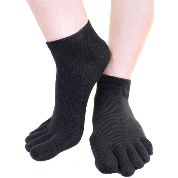 TOETOE Black Everyday Trainer Toe Socks