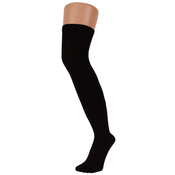 TOETOE Black Everyday Over The Knee Toe Socks