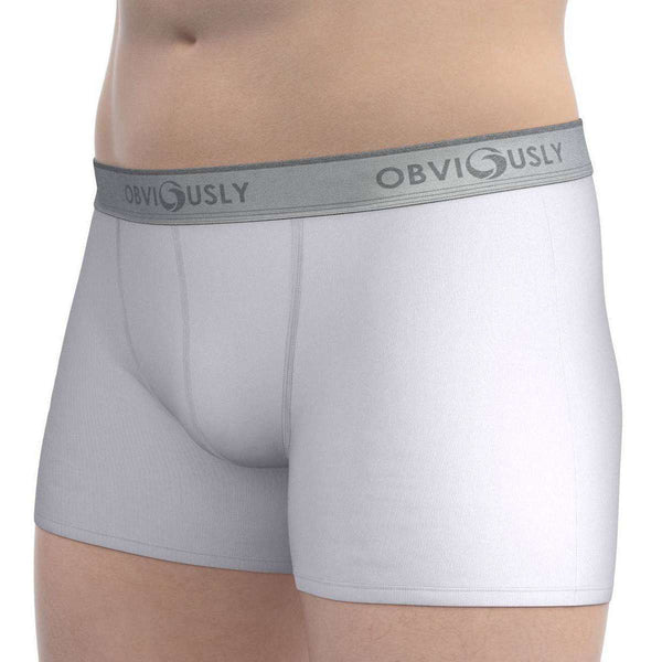 Obviously White Classic Boxer Briefs 3 Inch Leg