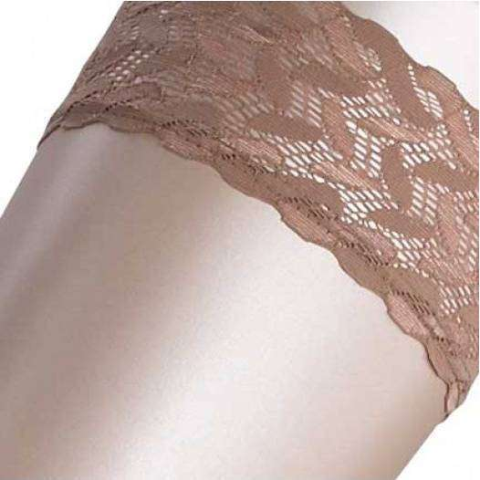 Falke Tan Shelina 12 Denier Ultra-Transparent Shimmer Stay-Up Stockings