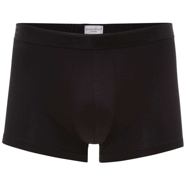 Derek Rose Black Jack 1 Pima Cotton Stretch Hipster Boxer Brief