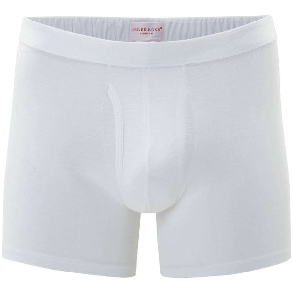 Derek Rose White Jack 1 Pima Cotton Stretch Trunk